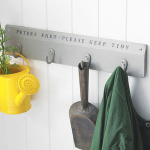Personalised Wooden Hook Board - gifts for the garden
