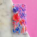 Transparent Vibrant Floral iPhone Case
