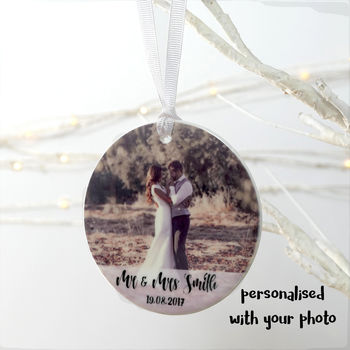 Personalised Photograph Wedding Ceramic Decoration
