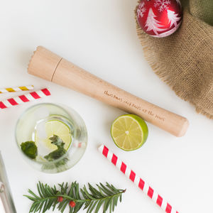 Christmas Personalised Cocktail Muddler - cocktail shakers & stirrers