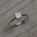 Moissanite Engagement Ring Set In 9ct White Gold