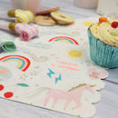 Magical Unicorn And Rainbow Paper Napkins