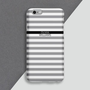 Mini Stripe Personalised Phone Cover