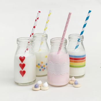 Printed Mini Milk Bottles
