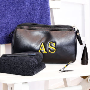 Personalised Mens Wash Bag And Towel Set - wash & toiletry bags