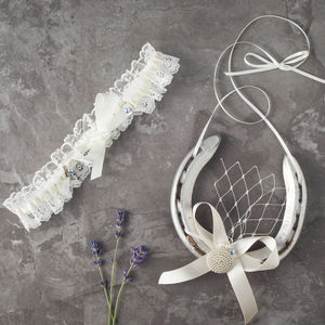 Brigitte Garter And Lucky Horseshoe Gift Set
