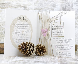 Woodland Hearts Wedding Stationery Range