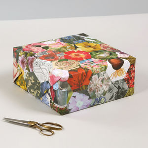 Gardeners Floral Luxury Gift Wrapping Paper Set - wrapping