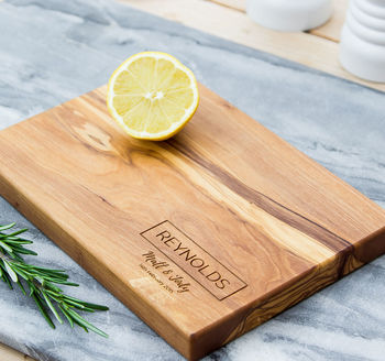 Personalised Cheese Board Gift For Couples