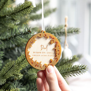 Personalised Star Christmas Bauble - for those we miss