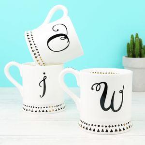 Cursive Monogram Mug - mugs