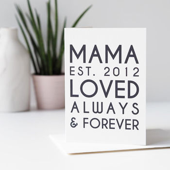 Personalised Mama Mother's Day Card