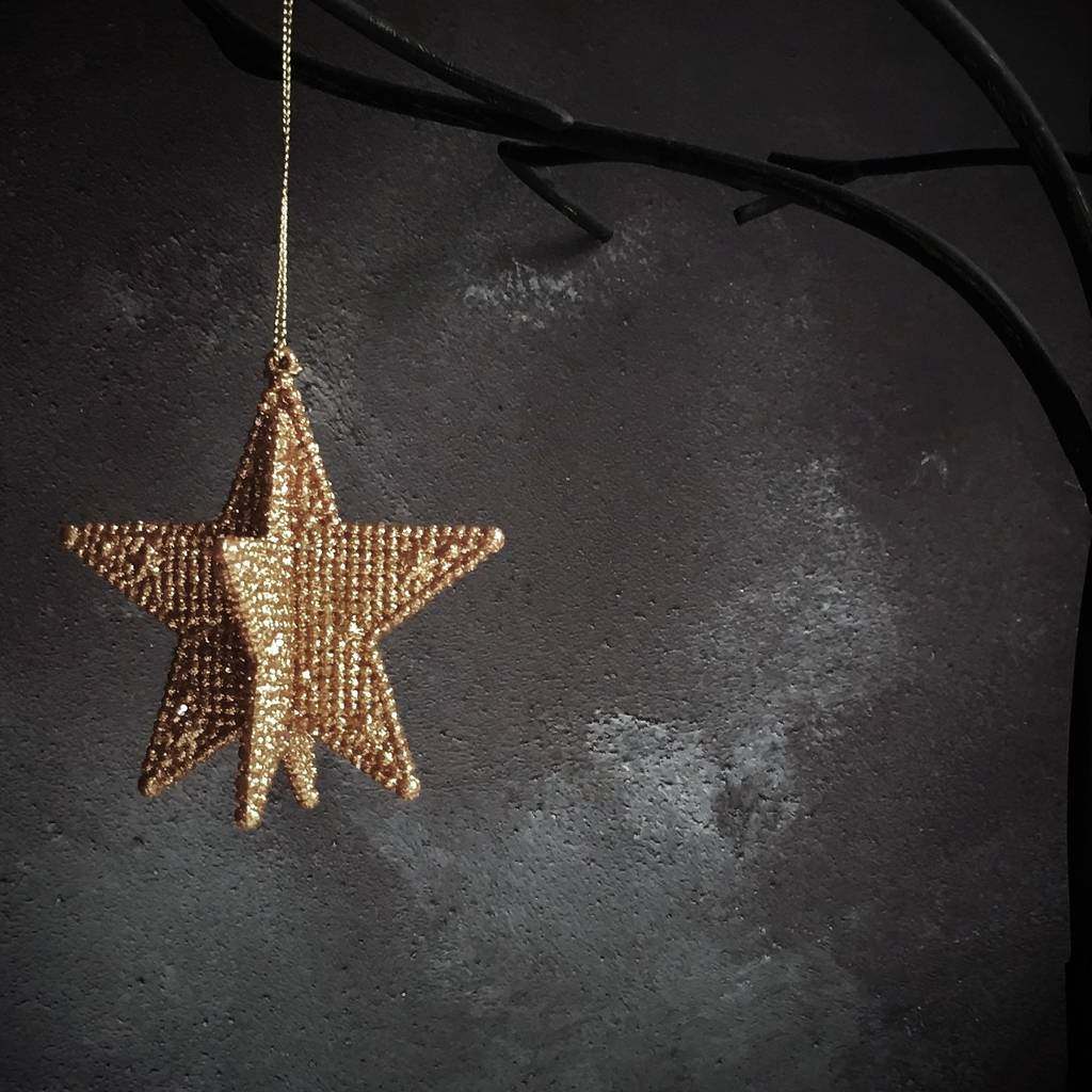 Copper 3d star christmas decoration by the christmas home for 3d star christmas decoration