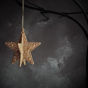 Copper 3D Star Christmas Decoration