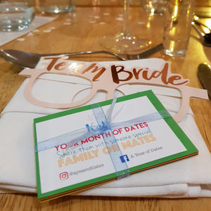 A Month Of Dates - wedding favours