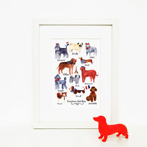 'Parisian Pooches' Illustrated Giclée Wall Art Print - pet portraits
