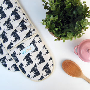 Highland Cow Oven Gloves - kitchen accessories