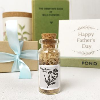 Wildflower Father's Day Gift And Personalised Card