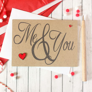 Me And You, Happy Anniversary Card, Valentine