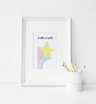 'Make A Wish' Star Print