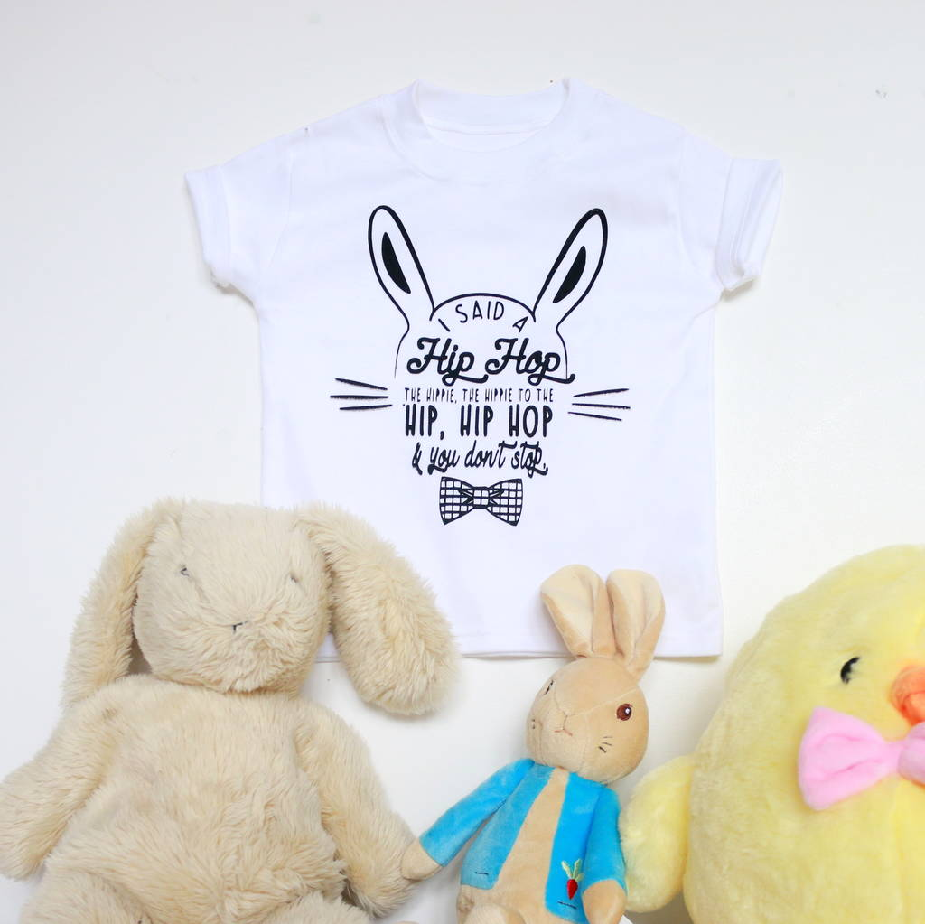 hip hop cool bunny t shirt by marloweville