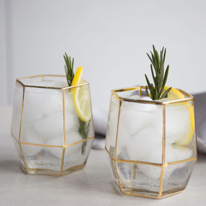Set Of Two Geo Glasses - shop by interest