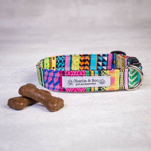 Multi Colour Dog Collar For Girl Or Boy Dogs - pet collars