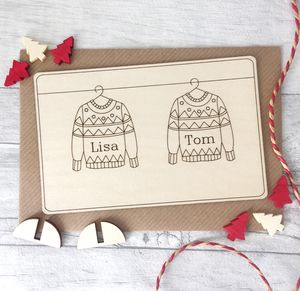 Personalised Christmas Card For Couple - new in christmas