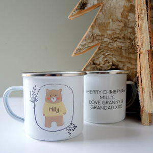 Personalised Woolly Jumper Bear Mug - garden sale