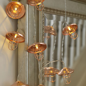 Copper Lantern String Lights - lighting