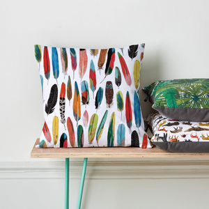 Feather Cushion - patterned cushions