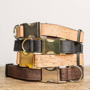 Dog Collar Cork Leather - gifts for pets