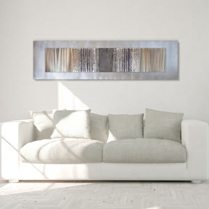 Oak Grey Silver Lines - modern & abstract