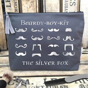 Personalised 'Fan Tache Kit' Luxury Wash Bag - make-up & wash bags
