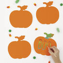 Set Of Four Pumpkin Scratch Art Sets