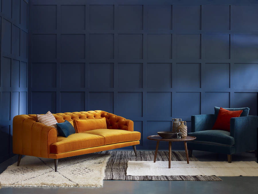 Earl Grey Modern Chesterfield Sofa