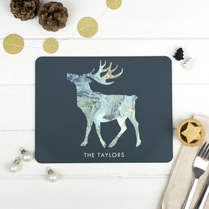 Personalised Marble Christmas Placemat - kitchen
