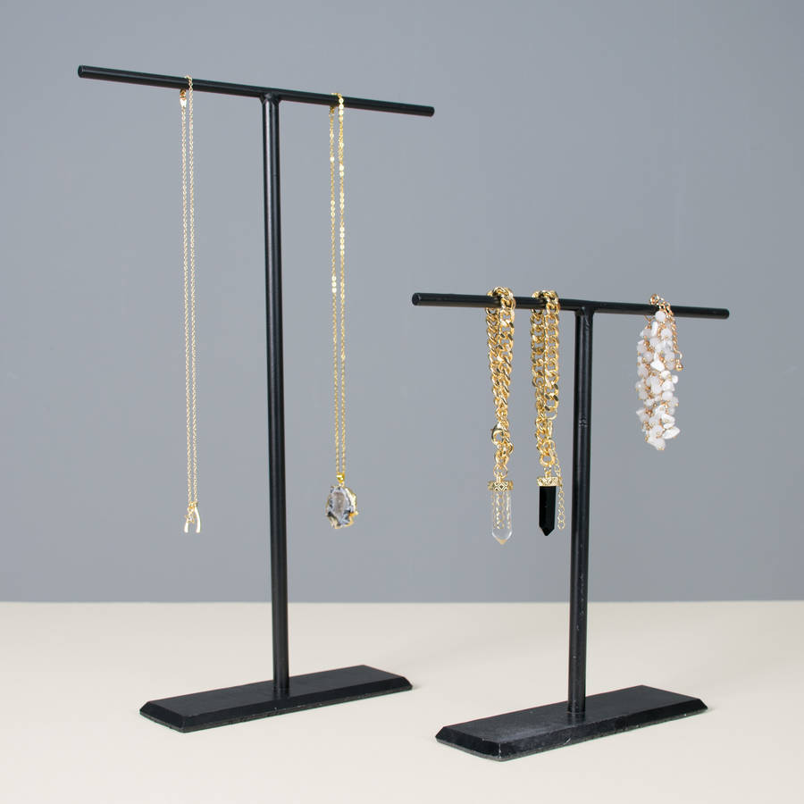 Set Of Two Hand Forged Jewellery Stands By All Things Brighton