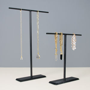 Set Of Two Hand Forged Jewellery Stands