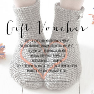 Gift Voucher For Eka Slipper Socks