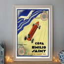 Vintage Copa Emilio Saint Art Deco Racing Car Poster
