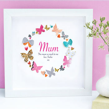 Personalised Mother's Day Butterfly Framed Art