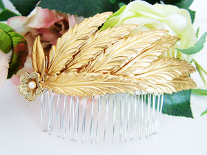 Bontanics Gold Comb - tiaras & hair combs