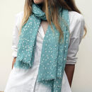 Personalised Star Print Soft Linen Mix Scarf