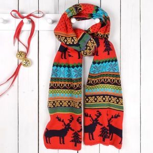 Christmas Jumper Style Woolly Scarf - hats, scarves & gloves