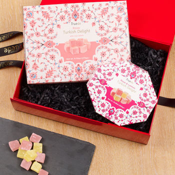 Rose Petal And Rose And Lemon Turkish Delight Gift Set