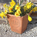 Personalised Engraved Wreath Flower Pot