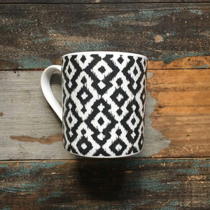 Mono Aztec Fine Bone China Mugs