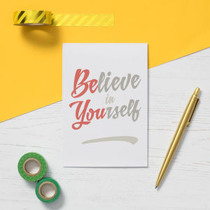 'Be You' Greeting Card - good luck cards