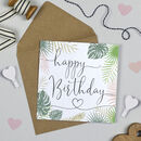Palm Leaf 'Happy Birthday' Card